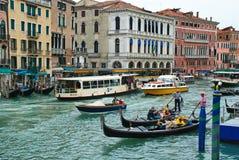 Grande canale Venezia, Italia Fotografia Stock Libera da Diritti