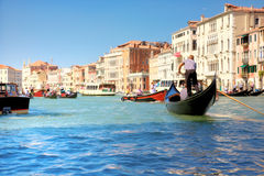 Grande canale a Venezia Italia Fotografia Stock Libera da Diritti