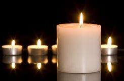 Grande candela Fotografie Stock Libere da Diritti