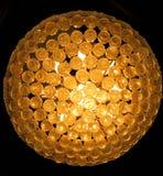 Grande candeliere con le chiare sfere di cristallo Fotografia Stock