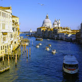 Grande Canel Venice view from Ponte dell'Accademia Stock Photos