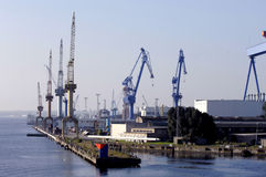 Grande cantiere navale Fotografie Stock
