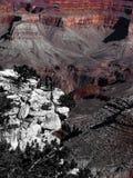 Grande canyon con neve in inverno Immagini Stock