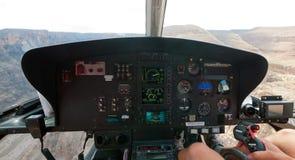 Grande canyon dall'interno di un elicottero Fotografia Stock Libera da Diritti