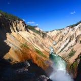 Grande canyon del fiume di Yellowstone Fotografie Stock