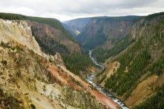 Grande canyon del Yellowstone immagine stock