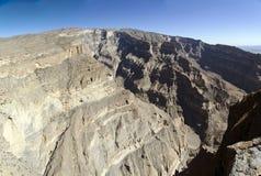 Grande canyon dell'Oman Fotografie Stock Libere da Diritti