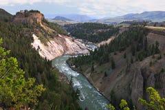 Grande canyon della sosta nazionale del Yellowstone Fotografie Stock Libere da Diritti
