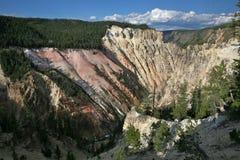 Grande canyon della sosta nazionale di pietra gialla Fotografie Stock