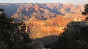 Grande canyon di tramonto Fotografie Stock Libere da Diritti