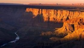 Grande canyon di tramonto Immagine Stock