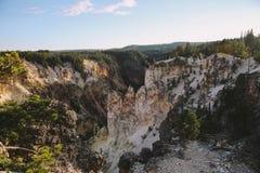 Grande canyon di Yellowstone Fotografia Stock Libera da Diritti
