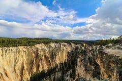 Grande canyon di Yellowstone Immagini Stock Libere da Diritti