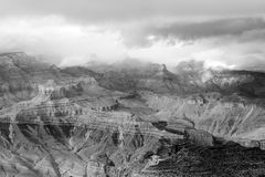 Grande canyon drammatico Fotografia Stock Libera da Diritti
