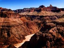 Grande canyon e fiume di colorado immagine stock