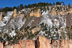 Grande canyon in inverno fotografia stock libera da diritti