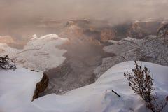 Grande canyon in neve Immagine Stock Libera da Diritti