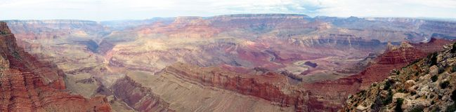 Grande canyon panoramico immagini stock