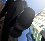 Grande capo Foot Stepping Down Fotografia Stock Libera da Diritti