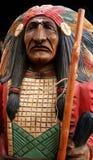 Grande capo, scultura di legno fotografia stock libera da diritti