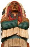 Grande capo, scultura di legno Fotografie Stock Libere da Diritti