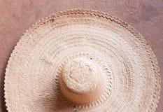 Grande cappello di paglia Fotografia Stock