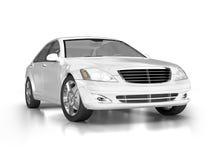 Grande carro branco luxuoso Imagens de Stock Royalty Free