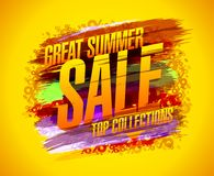 Grande cartaz do vetor da venda do verão, coleções superiores Foto de Stock