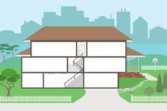 Grande casa cortante pronta para decorar ilustração stock
