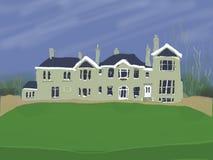 Grande casa de campo Imagens de Stock Royalty Free