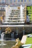 Grande cascade dans Peterhof Image libre de droits