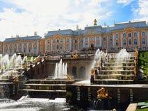 Grande cascata del palazzo di Pertergof fotografia stock libera da diritti