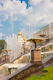Grande cascata in Peterhof, St Petersburg, Russia Immagine Stock