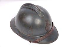 Grande casco francese di guerra Fotografia Stock