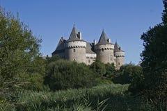 Grande castello francese Fotografia Stock