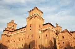 Grande castello nella città di Ferrara, Italia Fotografia Stock Libera da Diritti