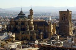 A grande catedral de Granada Fotografia de Stock Royalty Free