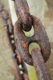 Grande catena arrugginita del metallo Fotografia Stock Libera da Diritti