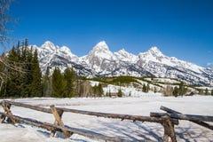 Grande catena montuosa di Teton Fotografia Stock