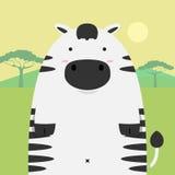 Grande cavallo grasso sveglio della zebra Immagine Stock Libera da Diritti