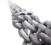 Grande chaîne en acier sur le fond blanc Photo libre de droits