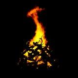 Grande chama alaranjada Foto de Stock