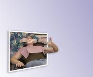 grande chiamata dentale 3d Fotografia Stock
