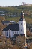 Grande chiesa bianca Fotografia Stock Libera da Diritti