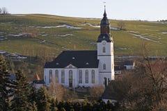 Grande chiesa bianca Immagini Stock