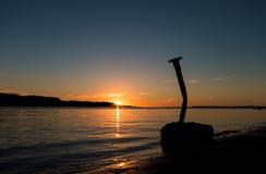 Grande chiodo di Shoreline Fotografia Stock
