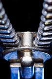 Grande chiusura lampo su un fondo nero Fotografie Stock