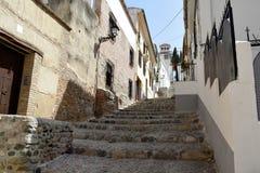 Grande cidade histórica de Granada da Espanha-Andaluzia, cidade velha Imagem de Stock