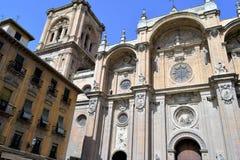 Grande cidade histórica de Granada da Espanha-Andaluzia, cidade velha Imagens de Stock