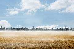 Grande cidade no horizonte Imagens de Stock